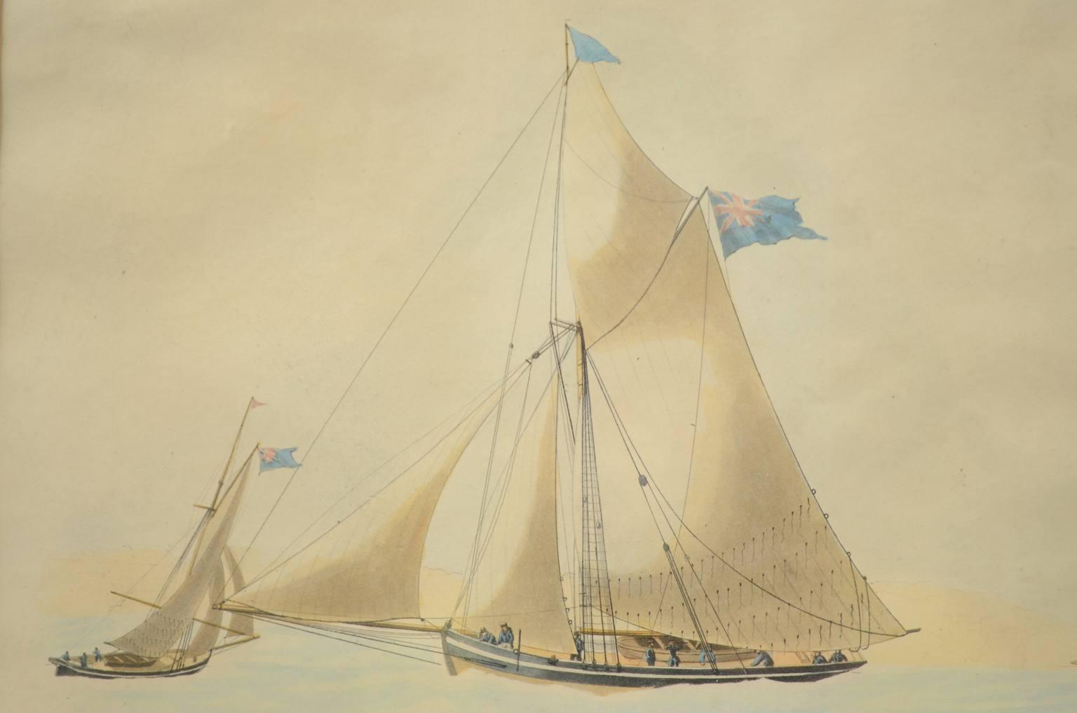 航海类古董/3588A-漂亮的水粉