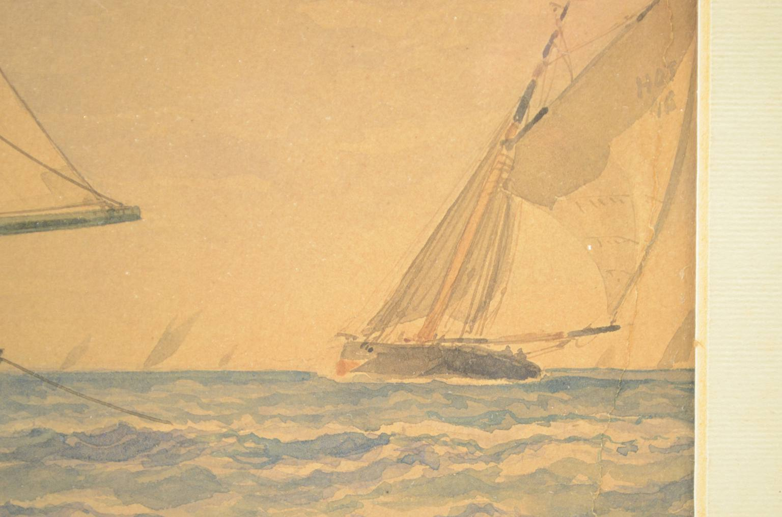 Antiquariato nautico/3590-Bella gouache