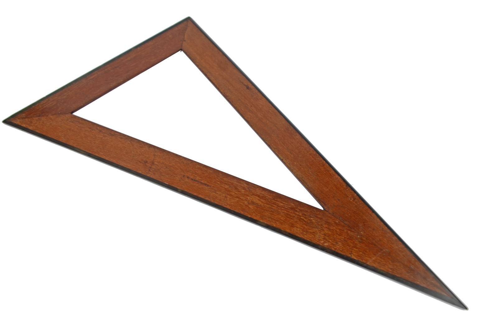 Strumenti di misura antichi/4008-Squadra mogano