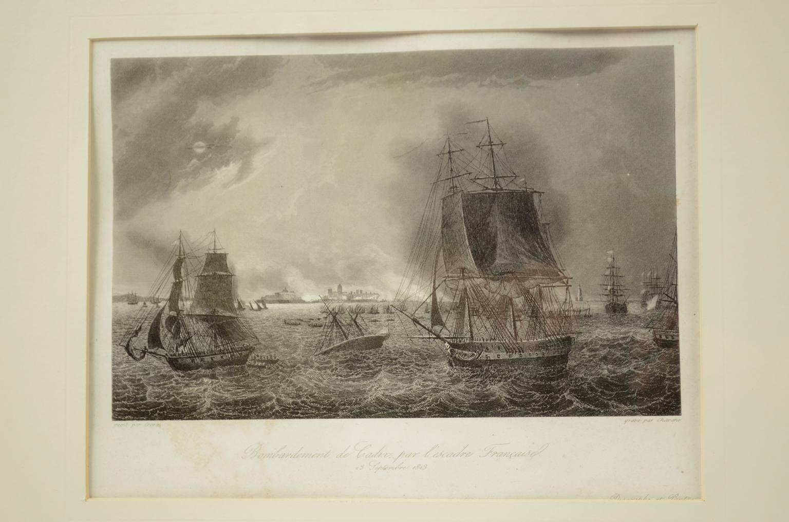 航海类古董/4759A-法国海军对加迪斯的轰炸