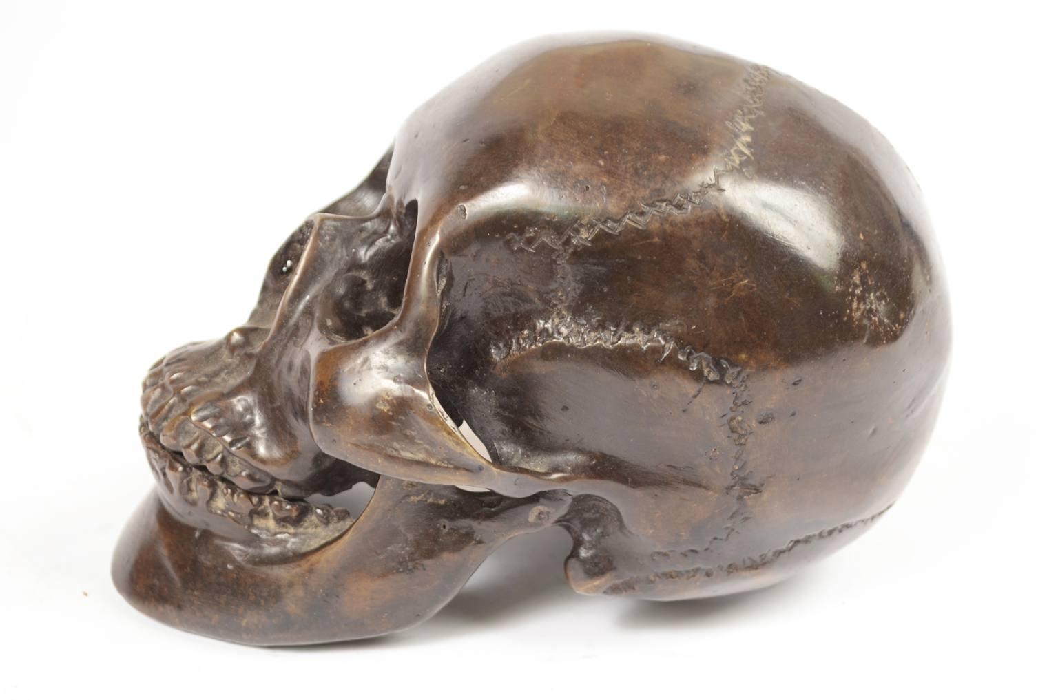 Strumenti medici d'epoca/490A-Teschio in bronzo