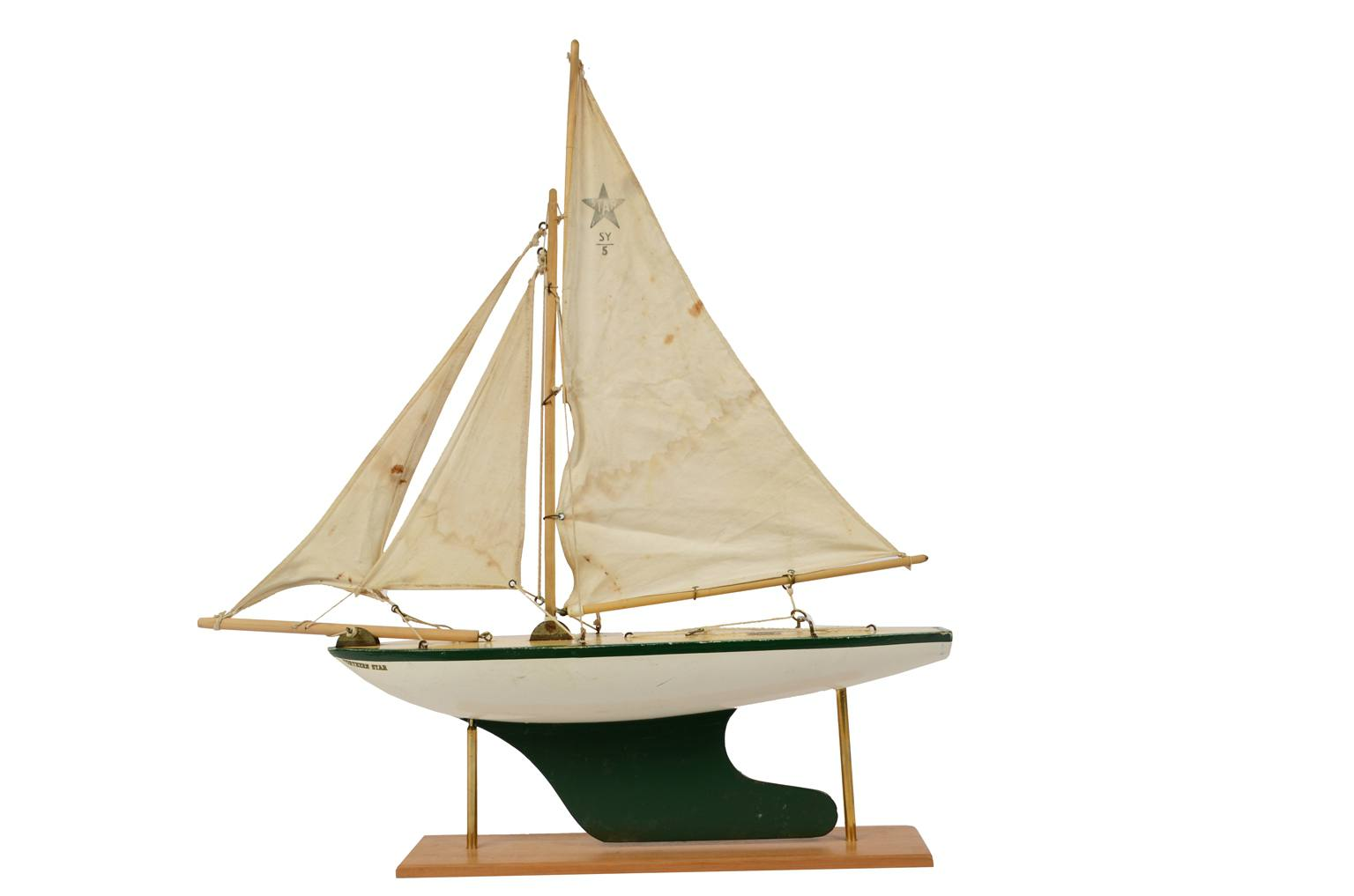 Modelli di navi d'epoca/5756-Barca giocattolo 1960