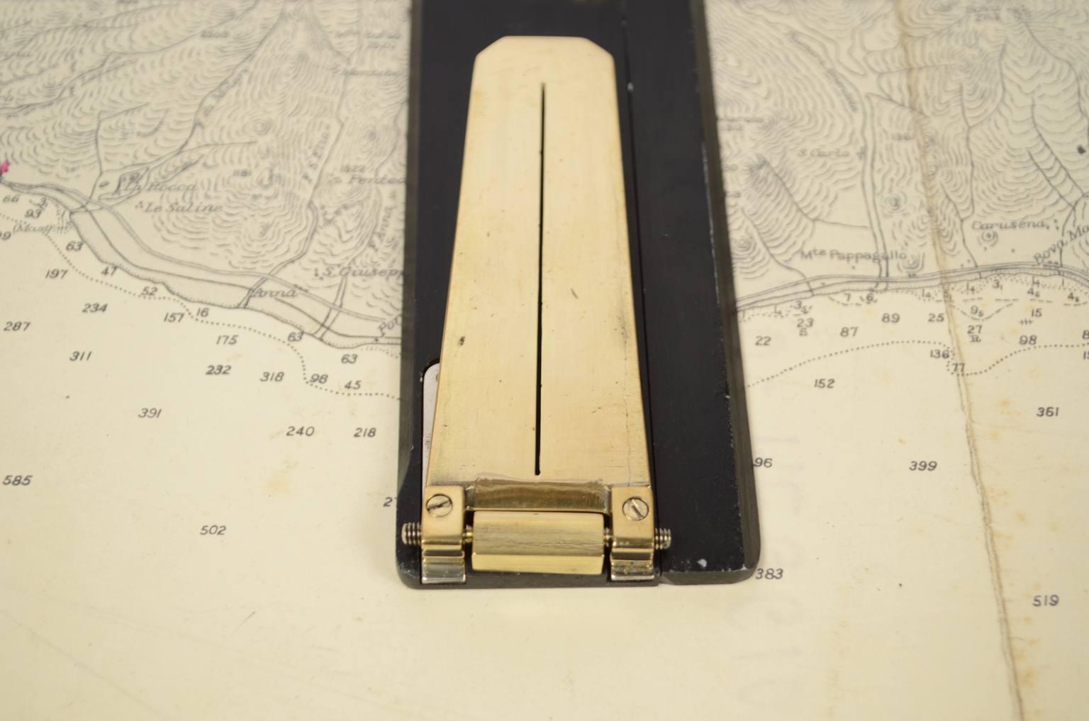 航海类古董/6095-古董测航海图的平行尺