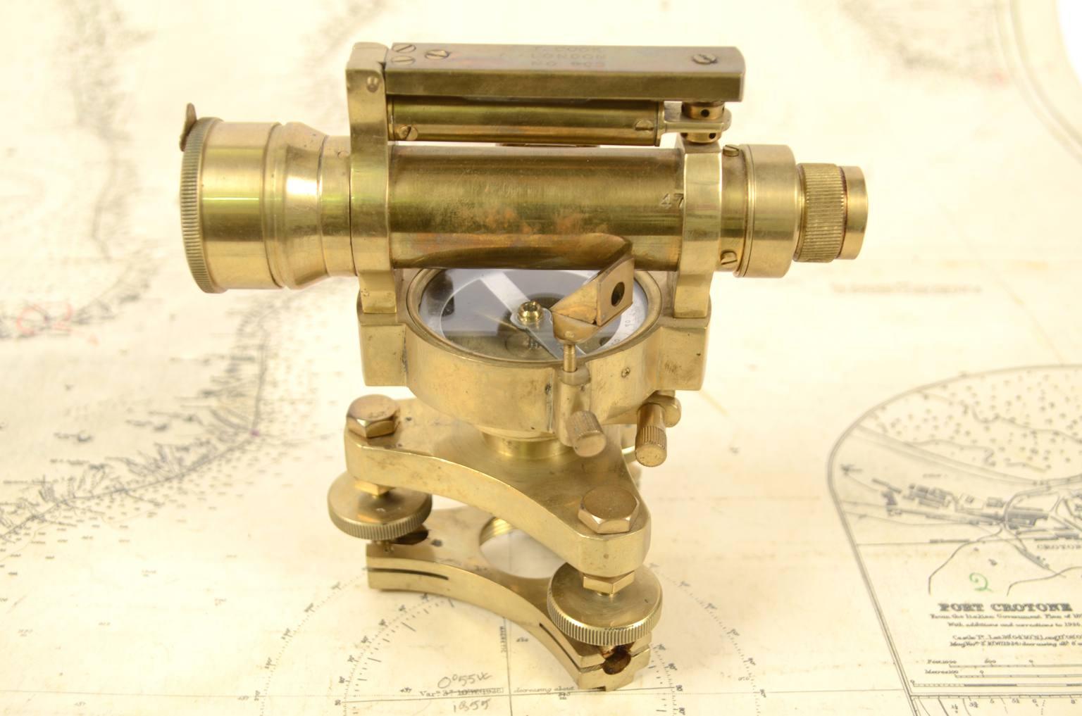 古测量工具/6099-古代 黄铜水平仪