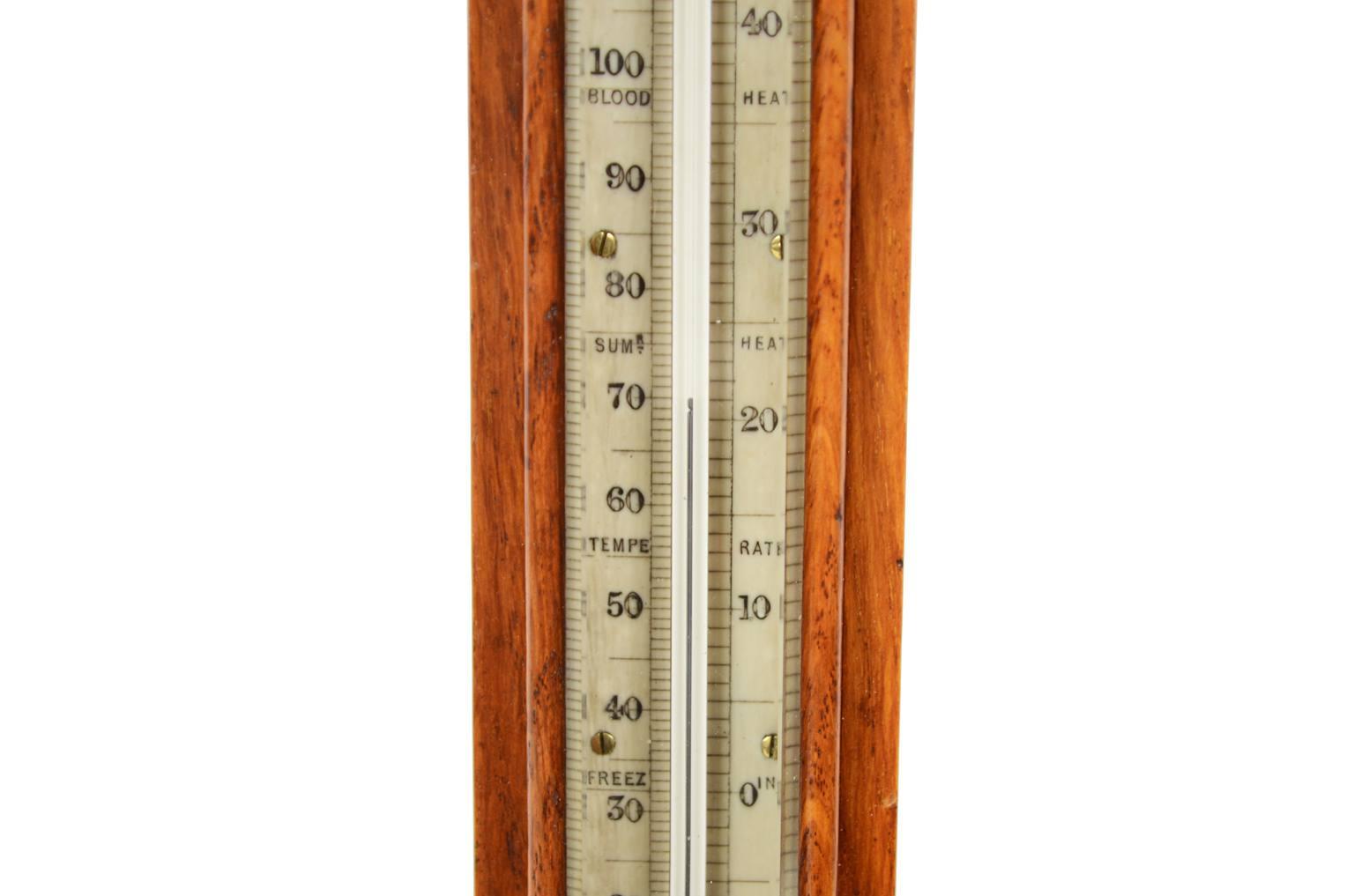 古色古香的晴雨表/6208-晴雨表由橡木制成