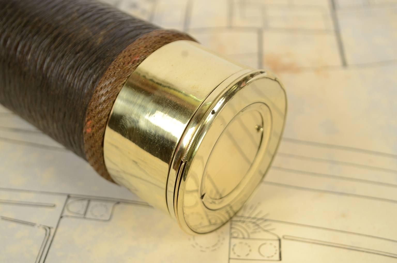 航海类古董/6281-黄铜望远镜