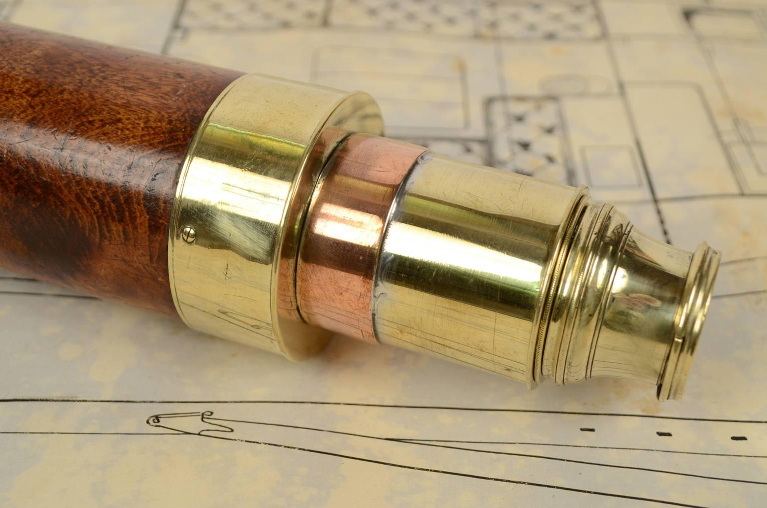 Antiquariato nautico/6282-Cannocchiale legno