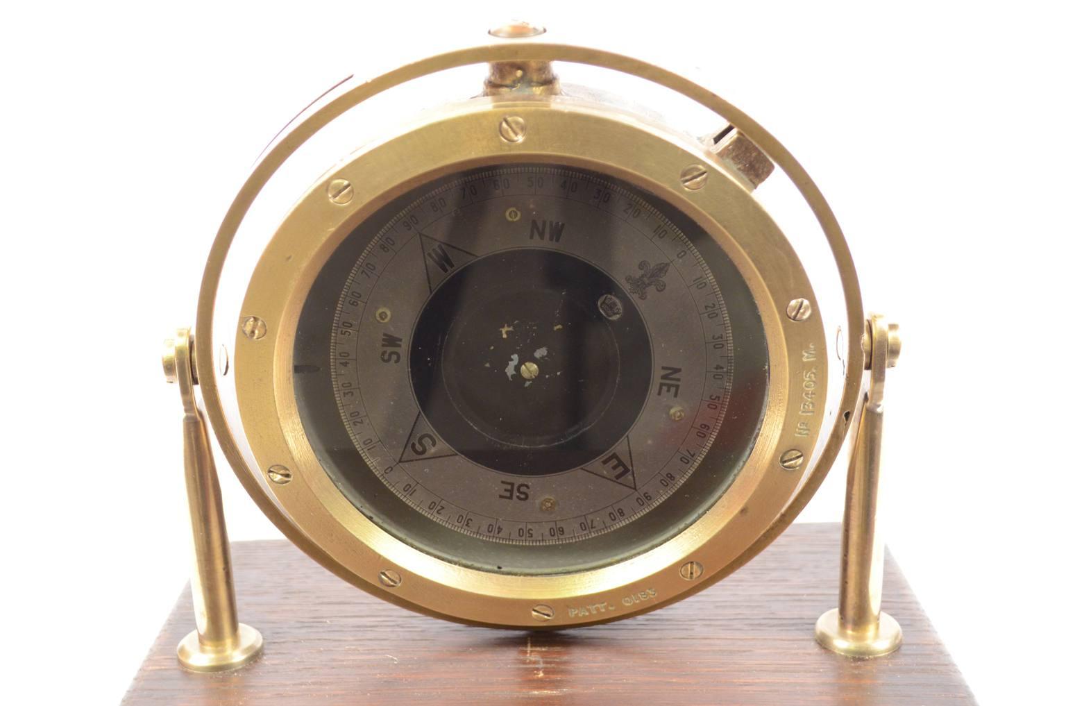 古罗盘/6365-黄铜和青铜液体指南针