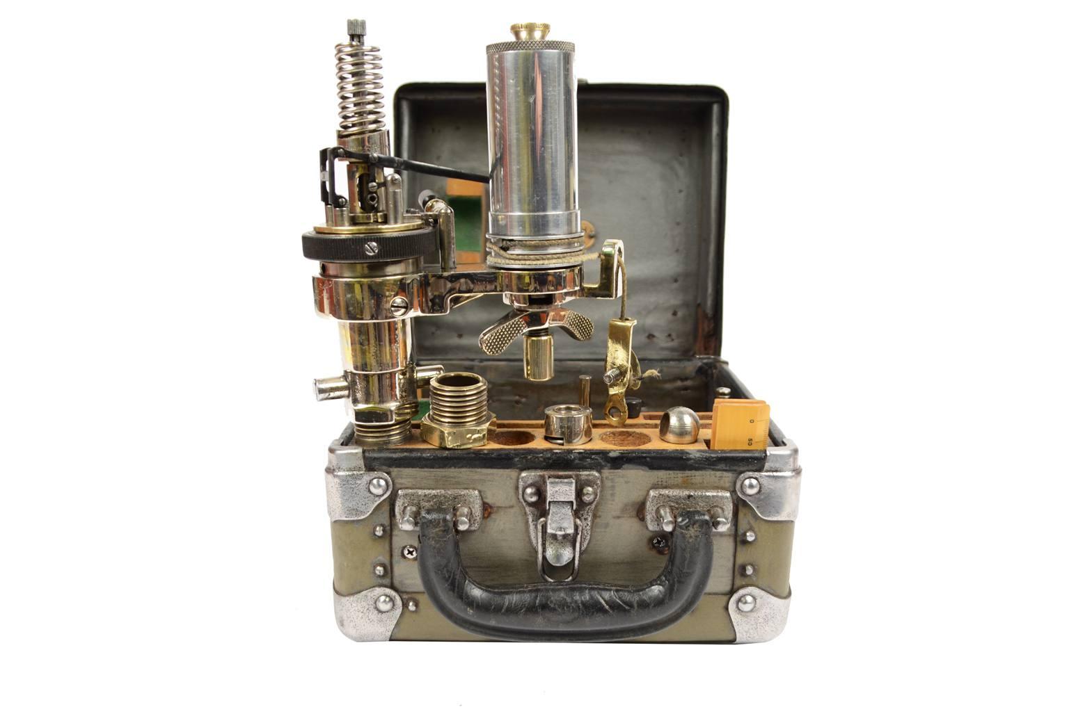 Strumenti di misura antichi/6519-Micromanometro epoca