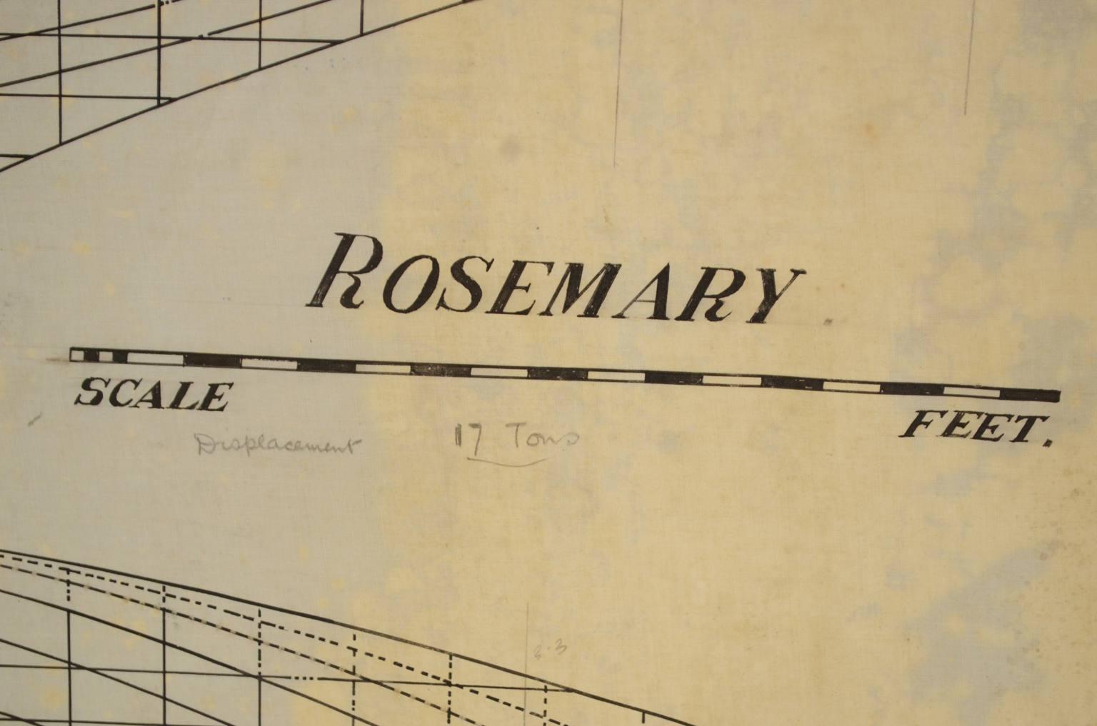 Progetti di barche d'epoca/PR33-Rosemary