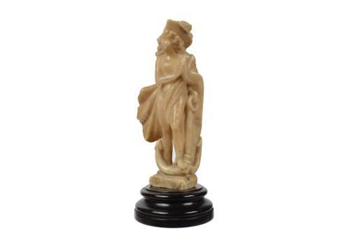 航海类古董/2473-雪花石膏雕塑描绘了一个女人/更多信息