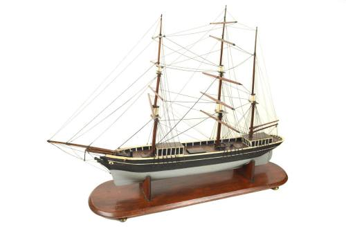 Old ship models/3077A-Brig early 1900/More info