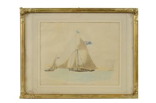 Nautical antiques/3588A-Nice gouache/More info
