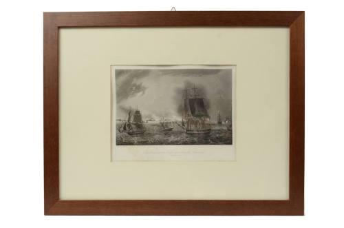 Nautical antiques/4759A-Print Cadiz 1823/More info