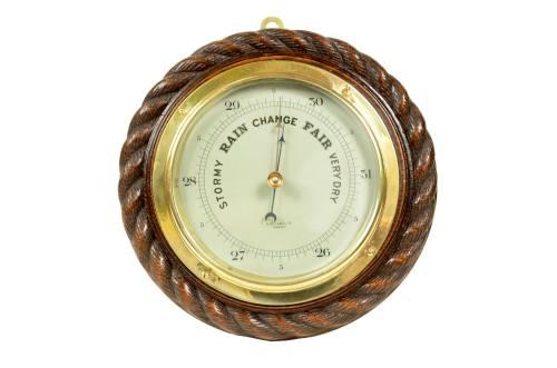 古色古香的晴雨表/5461-古董英式气压风速表/更多信息