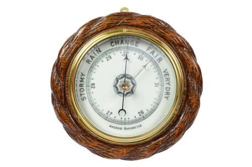 古色古香的晴雨表/61052-古董英式气压风速表/更多信息