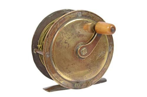 航海类古董/6338-英式桃花心木的钓鱼用绕线轮/更多信息