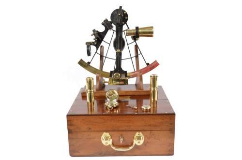 航海类古董/6393-大约十九世纪中期的六分仪/更多信息